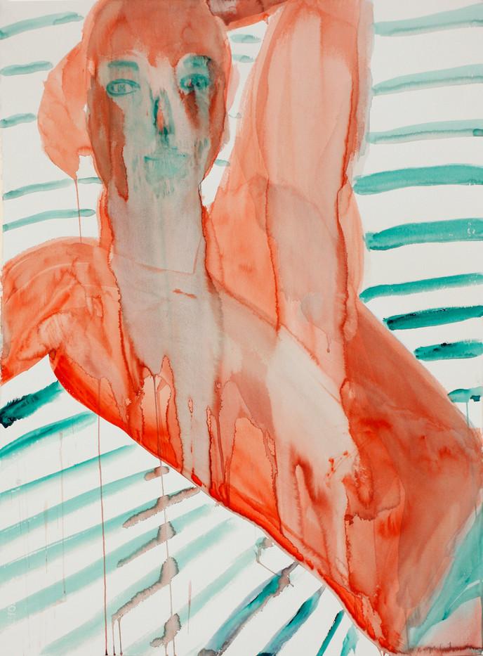 Georgina Gratrix   Male Model   2012   Watercolour on Paper   100 x 71 cm