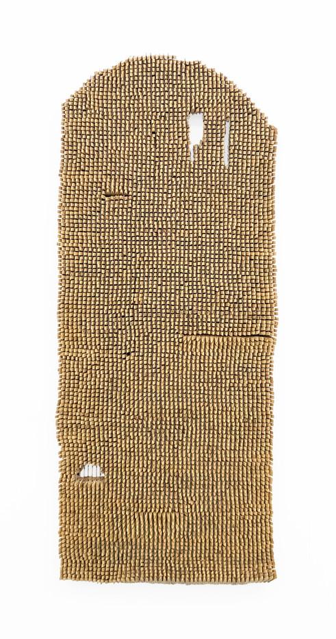 Usha Seejarim | Shakti | 2019 | Pegs and Wire | 152 x 65 x 7.5 cm