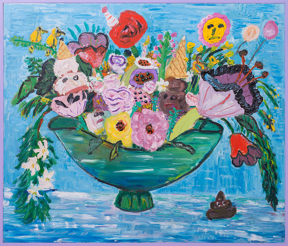 Georgina Gratrix | Arrangement for Mr Hankey | 2017 | Oil on Canvas | 170 x 200 cm