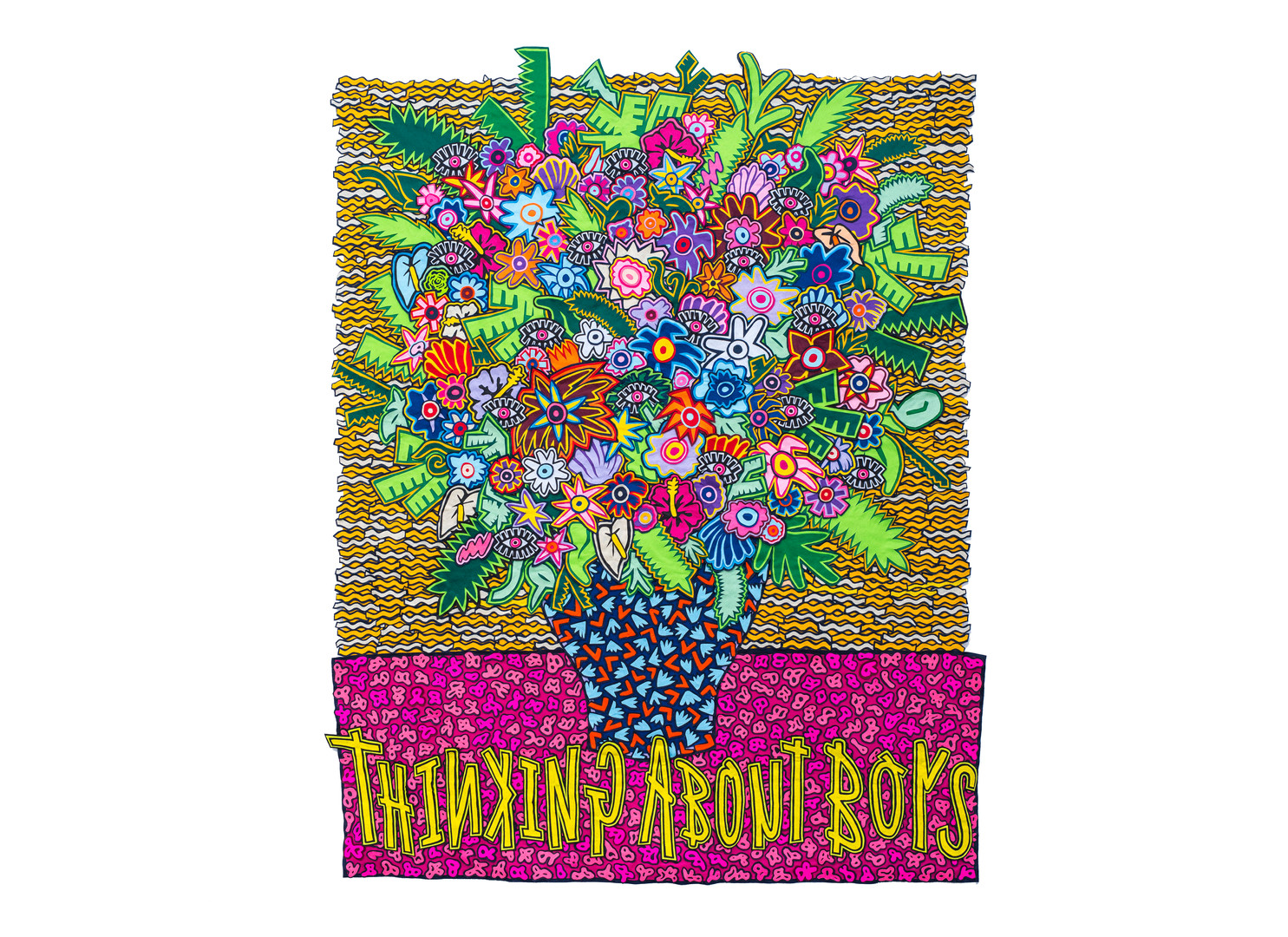 Jody Paulsen | Thinking About Boys | 2019 | Felt Collage | 171 x 223 cm
