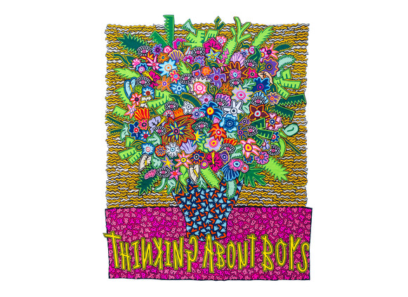 Jody Paulsen   Thinking About Boys   2019   Felt Collage   171 x 223 cm