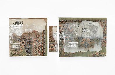 Sepideh Mehraban | Prime minister (II) | 2019 | Mixed Media on Carpet | 76 x 186 cm