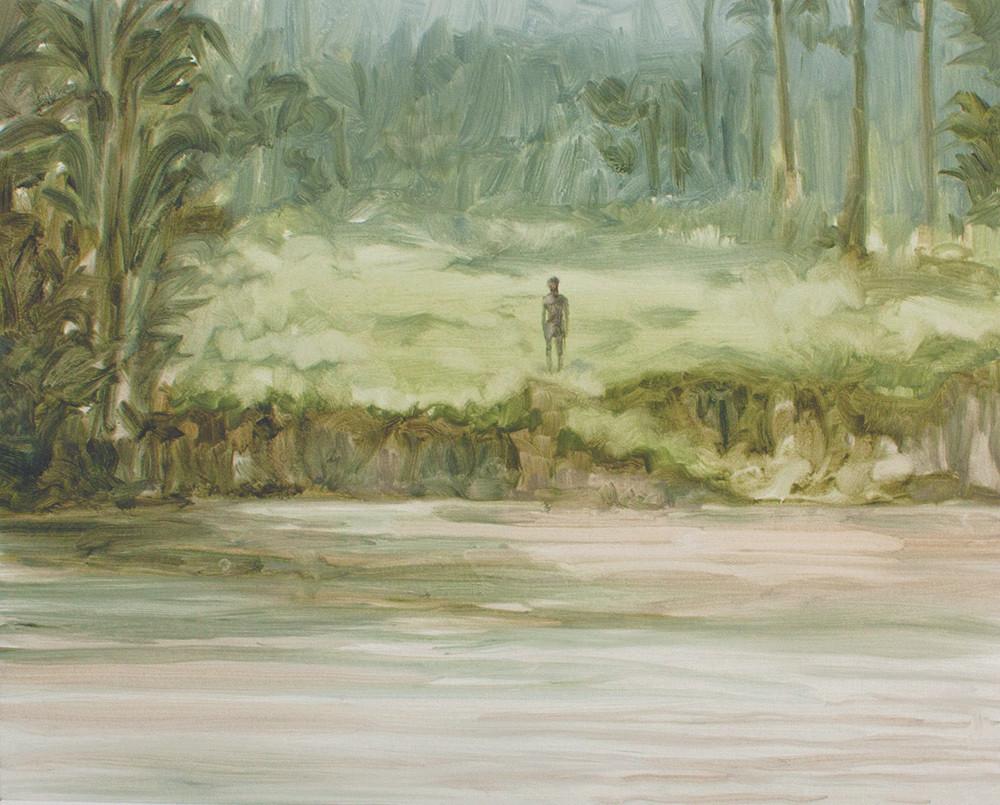 Jake Aikman | N10.856993, W85.774132 | 2013 | Oil on Paper | 31 x 40 cm