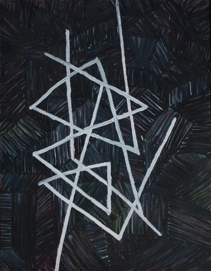 Jan-Henri Booyens   Die duiwel is de duiwel in   2012   Oil on Canvas   89 x 72 cm
