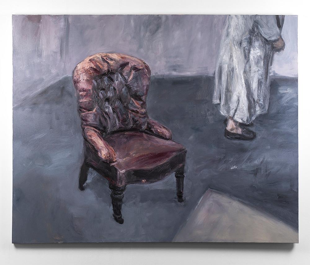 Johann Louw   Lae Stoel en Figuur   2016   Oil on Canvas   157 x 197 cm