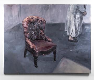 Johann Louw | Lae Stoel en Figuur | 2016 | Oil on Canvas | 157 x 197 cm