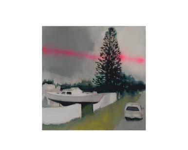 Kate Gottgens | Resident Alien | 2017 | Oil on Canvas | 95 x 95 cm