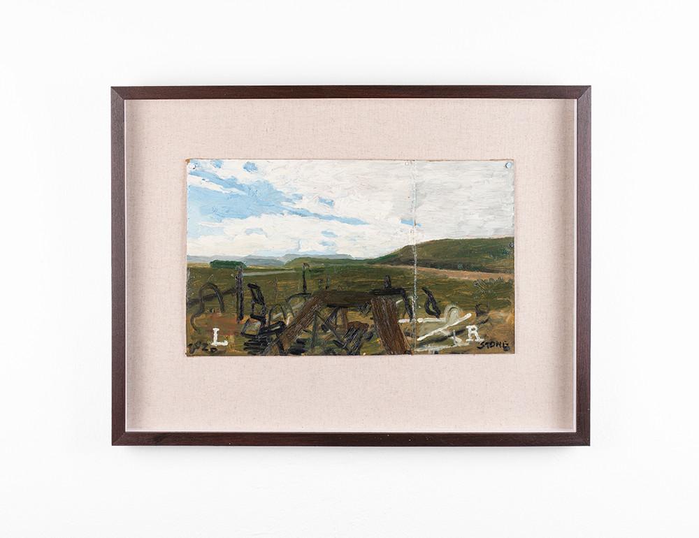 Simon Stone | Aberdeen Landscape | 2020 | Oil on Cardboard | 21 x 37 cm