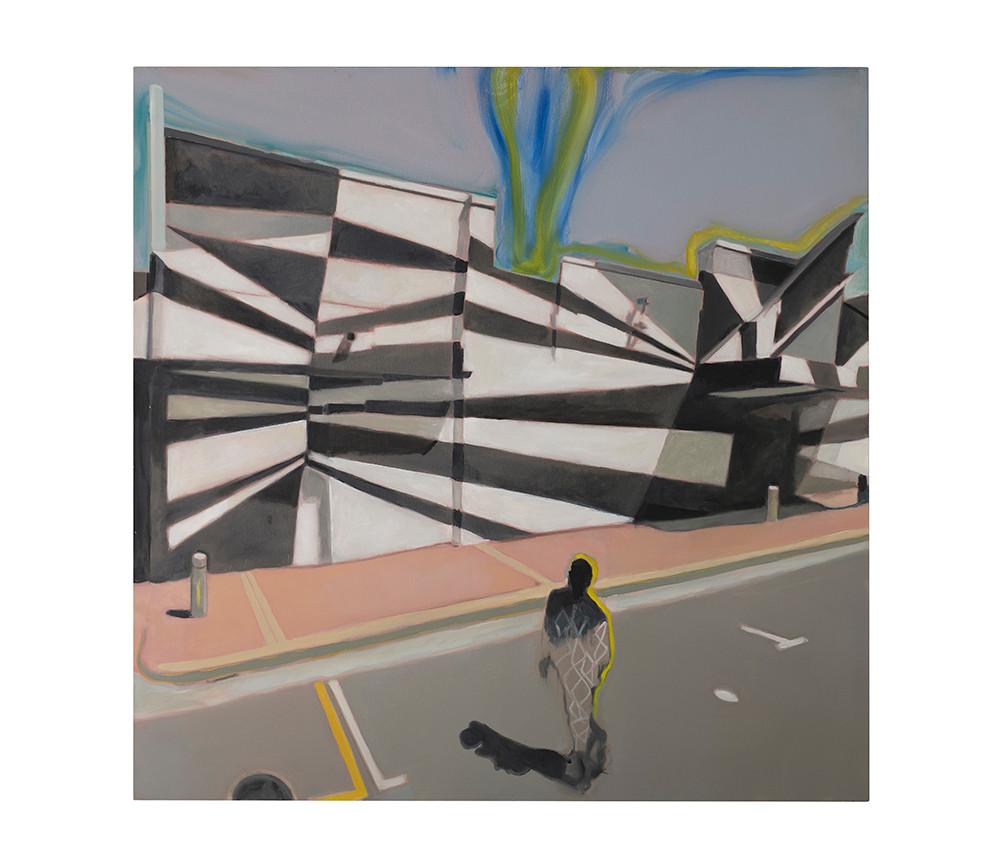 Kate Gottgens   Downward Drift   2017   Oil on Canvas   150 x 150 cm