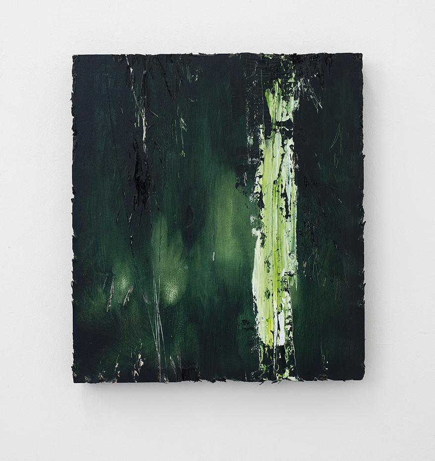 Jake Aikman | Streak | 2016 | Oil on Board | 45 x 40.5 cm