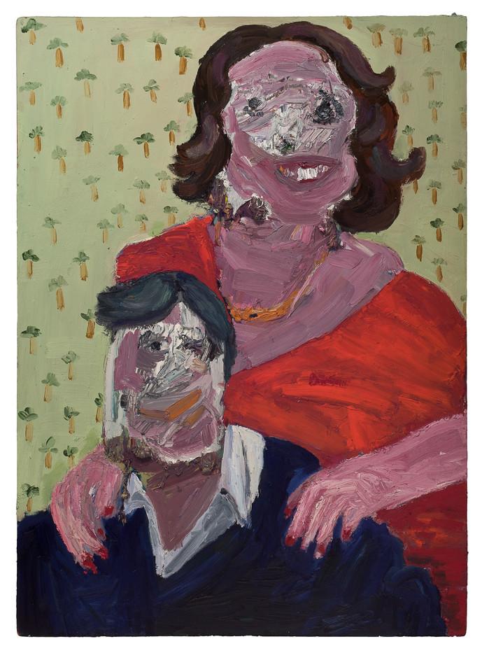 Georgina Gratrix   Happy Couple   2011   Oil on Board   122 x 89 cm