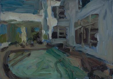 Anton Karstel | Property (Waterkloof Ridge) | 2014 | Oil on Canvas | 23 x 42 cm
