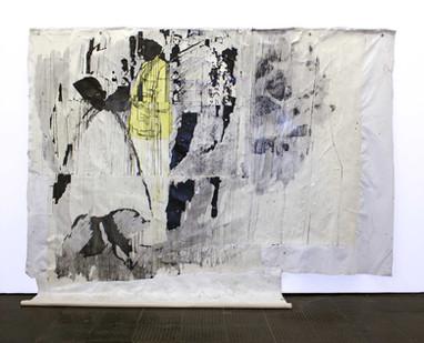 Gareth Nyandoro | Tinogera pano | 2016 | Ink on Paper Mounted on Canvas | 248 x 309.5 cm