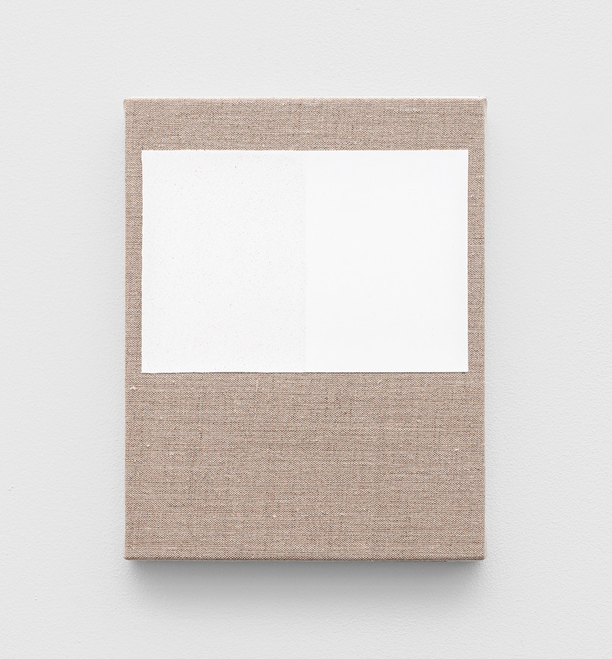 Pierre Vermeulen | Gesso and Glass Space nr 1 | 2020 | Gesso and Glass on Belgian Linen | 26 x 20 cm