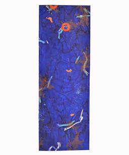 Mongezi Ncaphayi | Astral Blues I-I | 2017 | Indian Ink and Mixed Media on Paper | 280 x 198.5 cm