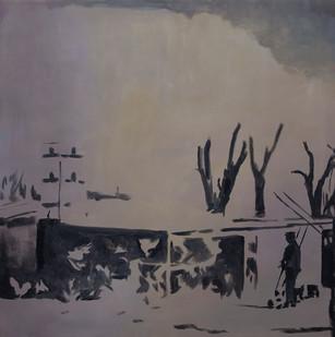 Kate Gottgens | Dawn, Exit | 2015 | Oil on Canvas | 90 x 90.5 cm