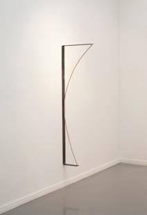 Ruann Coleman | Radius | 2014 | Steel, Dowl Rod and Magnets | 145 x 41.5 x 5 cm