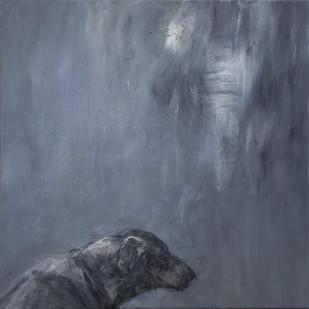Johann Louw | Hond (Verw Goya) | 2015 | Oil on Canvas | 81 x 81 cm