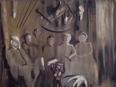 Kate Gottgens | The Collectors I | 2014 | Oil on Canvas | 62.5 x 84 cm
