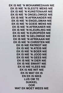 Willem Boshoff | Tien Teen Een | 2012 | Engraved Aluminium | 150 x 100 cm