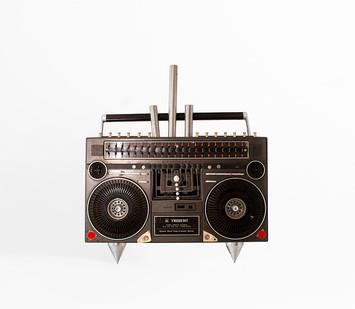 Cyrus Kabiru | Kabiru (Plumb) | 2020 | Steel and Found Objects | 54 x 51 x 15 cm
