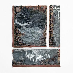 Sepideh Mehraban | Collapse | 2019 | Mixed Media on Carpet | 72 x 62 cm