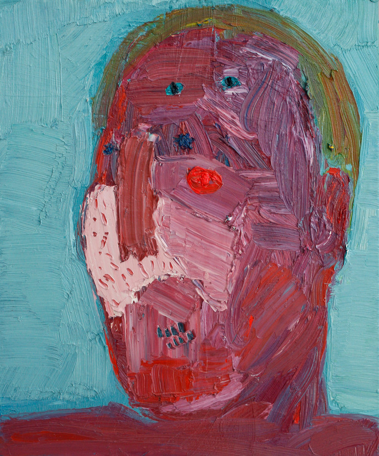 Georgina Gratrix   Dad with Pink Eye   2012   Oil on Canvas   60 x 50 cm