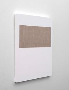 Pierre Vermeulen | Gesso Space nr 1 (Side View) | 2020 | Gesso on Belgian Linen | 50 x 40 cm