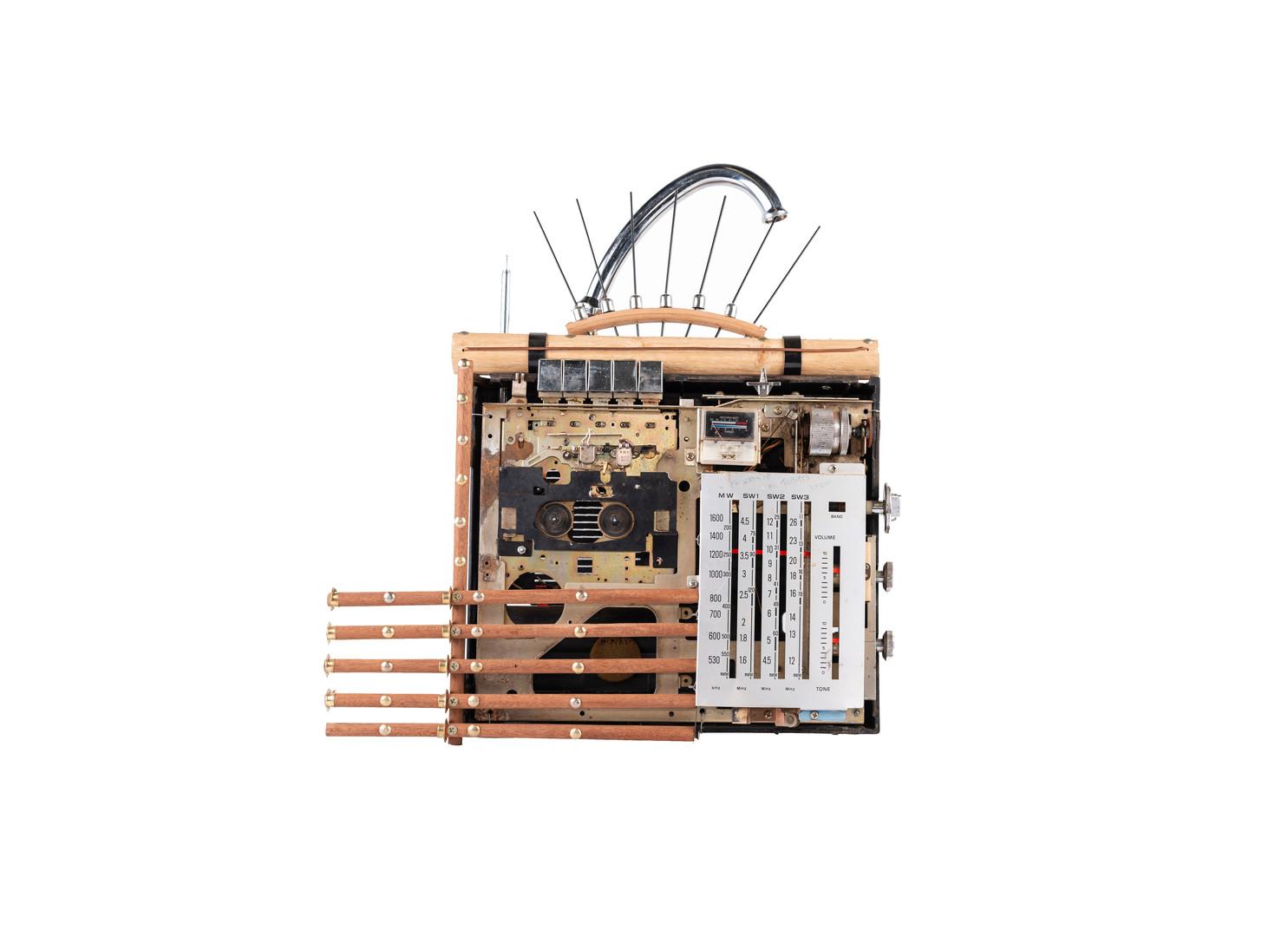 Cyrus Kabiru | Transformer | 2020 | Steel and Found Objects | 43 x 40 x 9 cm