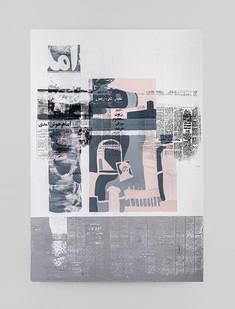 Sepideh Mehraban | Landing | 2021 | Mixed Media on Canvas | 110 x 75 cm
