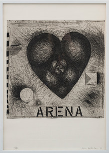 Kevin Atkinson | Heart Arena | 1977 | Etching and Embossing | 75 x 52.5 cm
