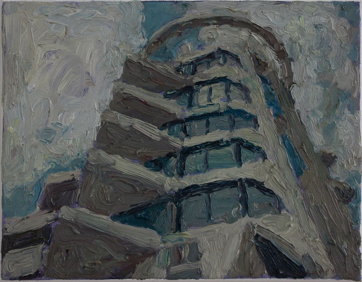 Anton Karstel | Property (Berea) | 2014 | Oil on Canvas | 28 x 36 cm