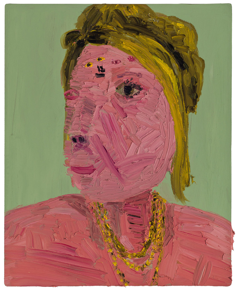 Georgina Gratrix   The Pink Lady   2011   Oil on Board   100 x 80 cm