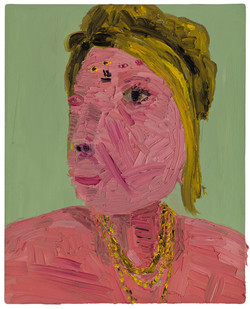 Georgina Gratrix | The Pink Lady | 2011 | Oil on Board | 100 x 80 cm