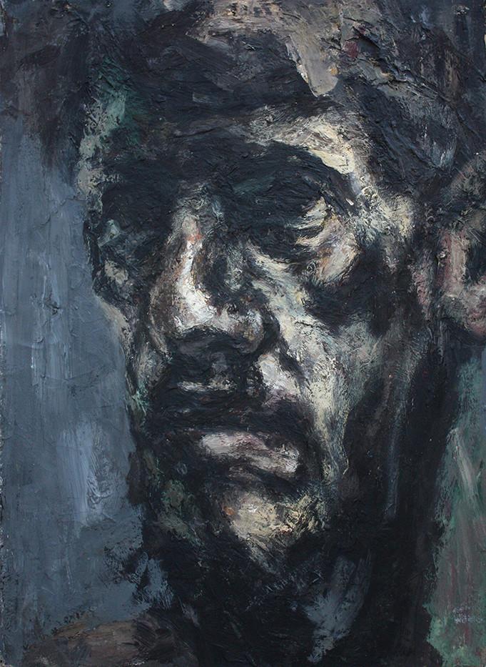 Johann Louw | (Self Portret) | 1993 | Oil on Paper | 60 x 44 cm