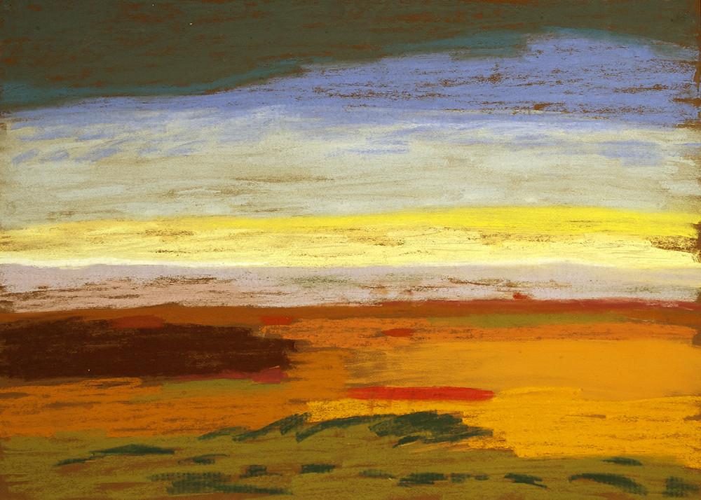 Kevin Atkinson | Untitled (Karoo Landscape 6) | c. 1985 | Pastel on Paper | 50 x 70 cm