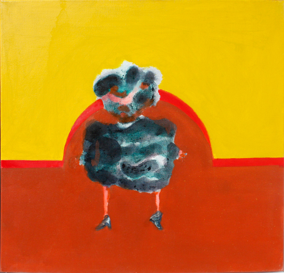 Robert Hodgins   Two Ladies in Fur Coats: Lady II   2009   Oil on Canvas   60 x 60 cm