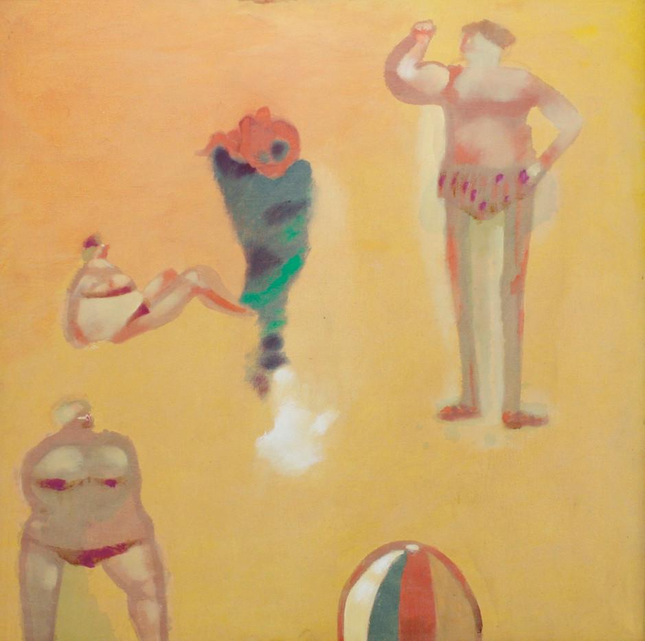 Robert Hodgins   Cape Beach   n.d   Oil on Canvas   88 x 89 cm