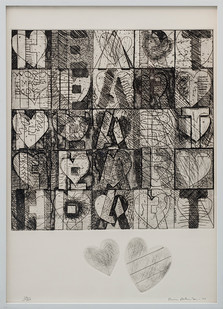 Kevin Atkinson | Heart Labyrinth | 1977 | Etching and Embossing | 72.5 x 52.5 cm
