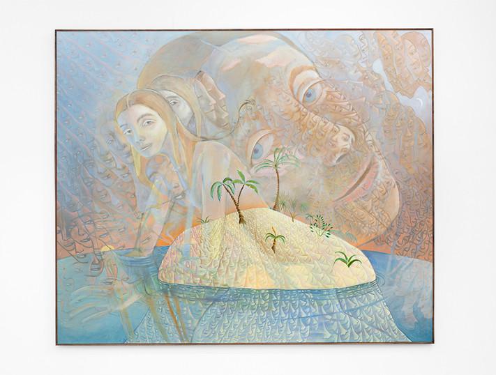 Marlene Steyn   Isle of I'll   2020   Acrylic on Canvas   160 x 190 cm