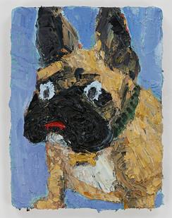 Georgina Gratrix | Baby Fonz | 2015 | Oil on Board | 40.5 x 31 cm