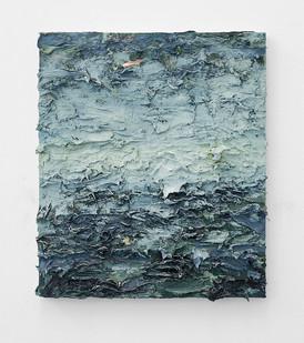 Jake Aikman | Navigate (Blue) | 2016 | Oil on Board | 35 x 30 cm