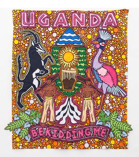 Jody Paulsen | Uganda You Got To Be Kidding Me | 2016 | Felt Collage | 185 x 169 cm
