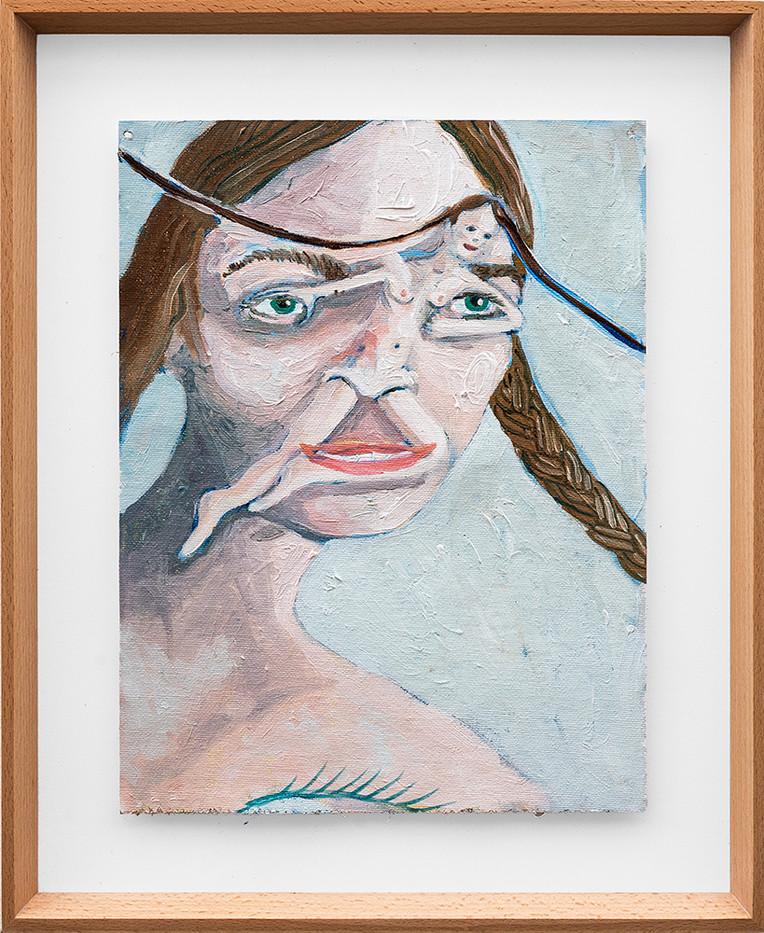 Marlene Steyn   Leggy exhale her   2018   Oil on Canvas   30 x 23 cm