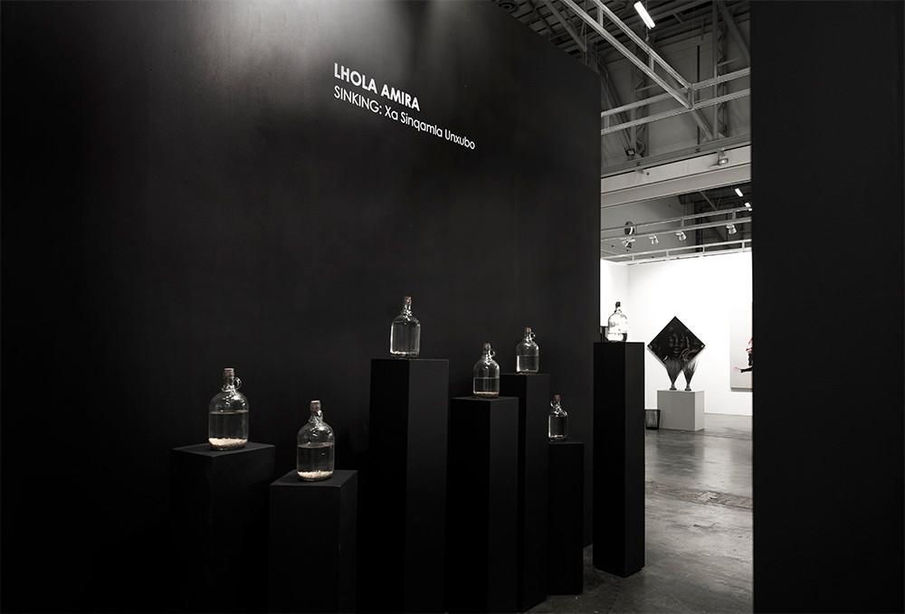 Lhola Amira | SINKING: Xa Sinqamla Unxubo | Investec Cape Town Art Fair | SOLO Section | 2018 | Installation View