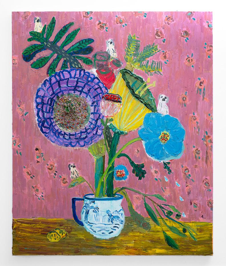 Georgina Gratrix | Biggie Best Blues | 2018 | Oil on Canvas | 190 x 160 cm