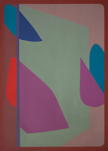 Trevor Coleman | Frozen Forms | 1973 | Acrylic on Canvas | 91 x 127 cm