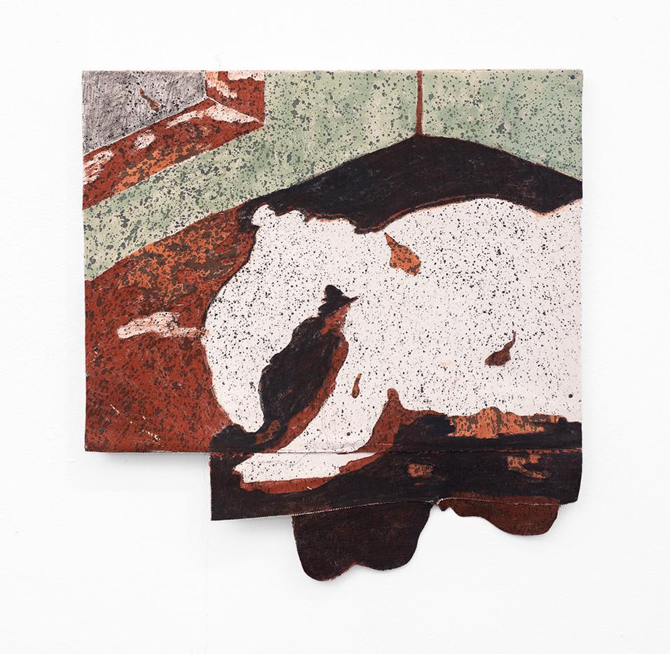 Jeanne Gaigher   vinegar 2   2020   Acrylic, Ink on Canvas   49 x 47 cm