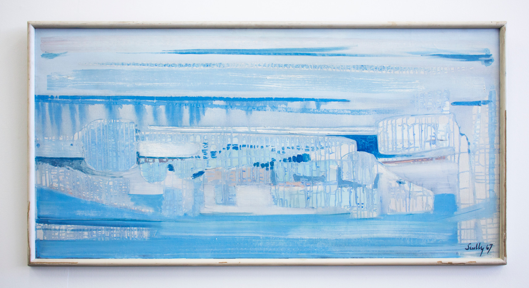 Larry Scully | Durban No. 11 - Blue Reef | 1967 | Oil on Canvas | 61 x 122 cm
