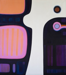 Hannatjie van der Wat | Encouter | 1969 | Oil on Canvas | 172.5 x 152.5 cm